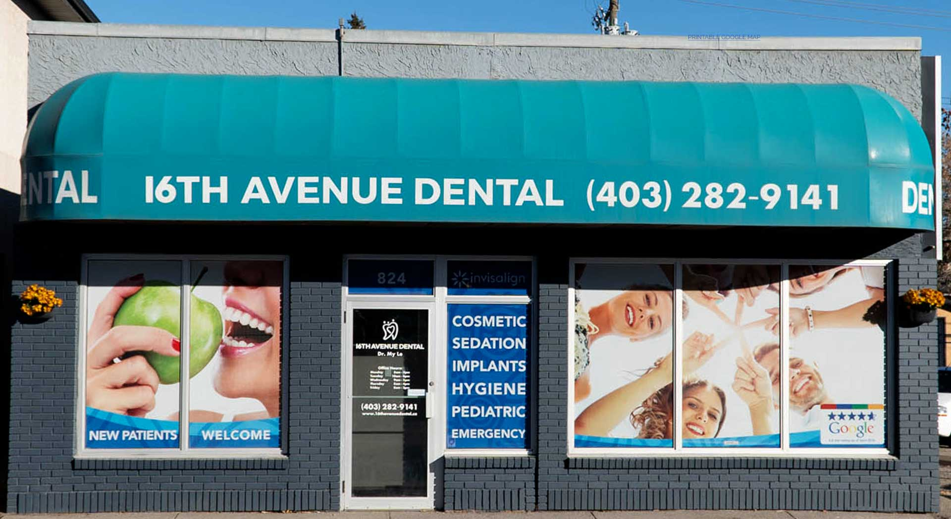 NW Calgary Dentist | 16 Avenue Dental | Main Entrance